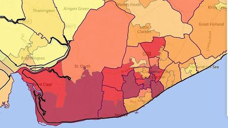 Jaywick in Clacton is the most deprived neighbourhood in England, with Tendring featuring his concen
