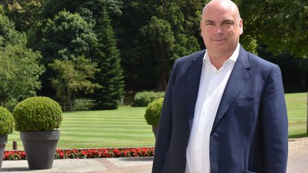 Mike Lynch in the grounds of Kesgrave Hall.