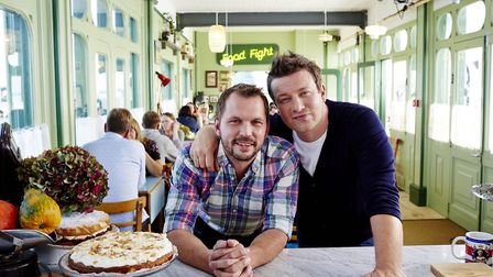 Friends since they were boys in Essex, chef Jamie Oliver and Suffolk farmer Jimmy Doherty host Chann