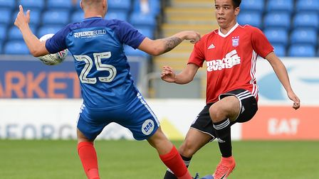 The versatile Tristan Nydam, 17, has received plenty of praise from Ipswich Town manager Mick McCart