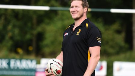 New Bury St Edmunds rugby head coach Ollie Smith. Picture: GREGG BROWN