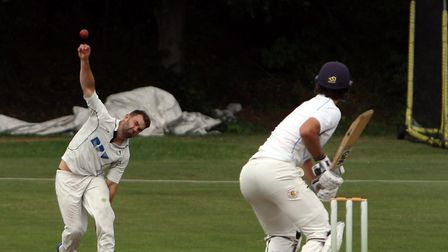 Kyle Morrison, who took three for 32 in Mildenhall's win at Burwell by 33 runs on Saturday. Picture: