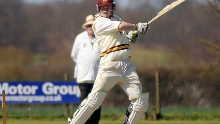Darren Batch, who scored 122 not out in Sudbury's narrow defeat at Swardeston by two wickets. Pictur