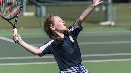Rising tennis star Jessica Terry, 9, was discovered by the Elena Baltacha Foundation. Photo: Pavel K