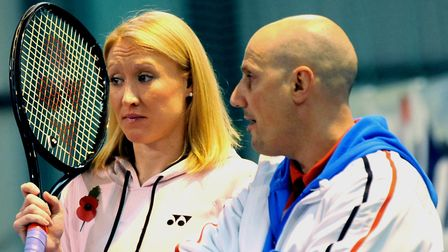 A formidable force: Elena Baltacha and Nino Severino, pictured together in 2011. Photo: Andy Abbott