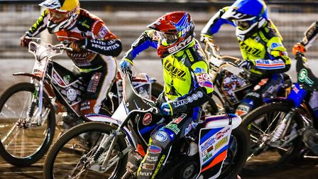 Action from Foxhall Stadium this season where the Ipswich Witches are in good form. Photo: STEVE WAL