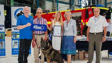 The Essex Retired Police Dogs Fund was the chosen charity suppored by the 2017 Check-in @ Stansted B