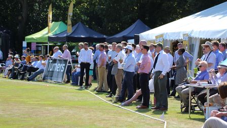 Part of the crowd at Wednesday's match at Copdock. Picture: NICK GARNHAM