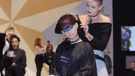 Student ambassador Jessica Wade of the Alan d Hair Education academy, in Ipswich, in competition in