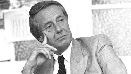 Barry Norman being interviewed at Ipswich Film Theatre in 1989