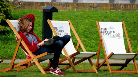 Engrossed in a book during the Flipside Festival held at Snape Maltings. They have launched a new en