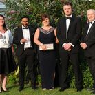 Sanctuary Personnel team members at the EADT Business Awards, from left, Redwan Miah ,Kellie Thorndy