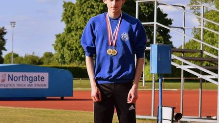 Cameron Bailey, who will be competing over 200 metres at the English Schools Championships, is pictu