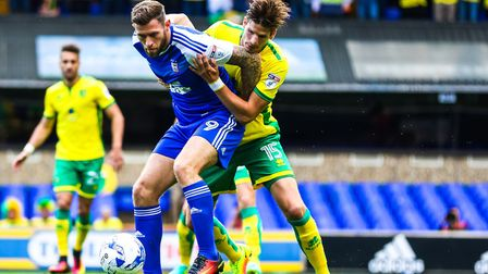 Former Ipswich striker Daryl Murphy, playing against Norwich lasts eason, has been linked with a mov
