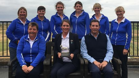 The winning Suffolk team in East Ladies' County Week. Back (from left): Lils James, Alice Barlow, Lo