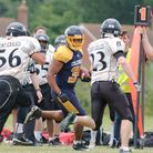 Casey Cambell rushed for 108 yards and a touchdown for Colchester. Picture: JOHN SINGER