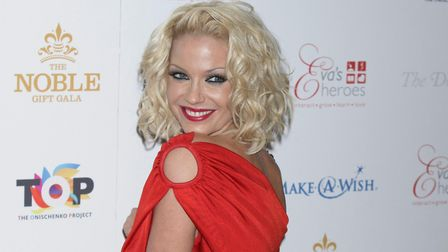 Sarah Harding arriving for The Noble Gift Gala. Picture: YUI MOK