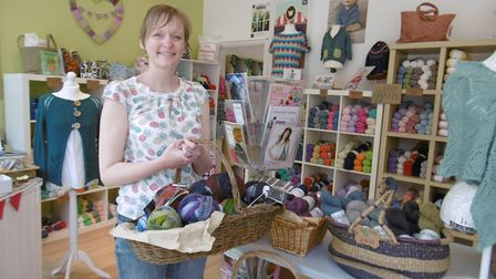Lois Mickleburgh owner of Jenny Wren's Yarns, which has been short-listed for the British Knitting A
