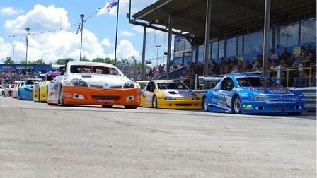 The front of the Hot Rod final grid last season.
