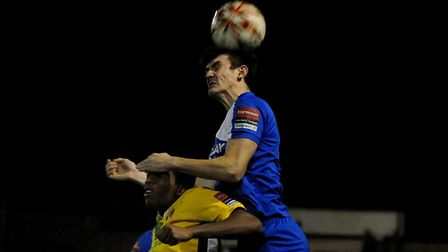 Kyran Clements in action for Bury last season. He will stay at Ram Meadow this season too.