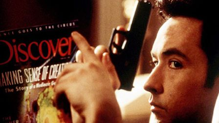 John Cusack as Martin Q Blank in the action-adventure romantic comedy Grosse Point Blank. Photo: HOL