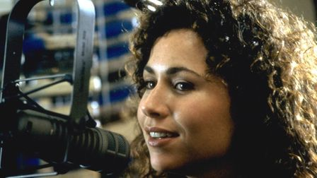 Minnie Driver as the small town radio DJt Debi Newberry in the action-adventure romantic comedy Gros