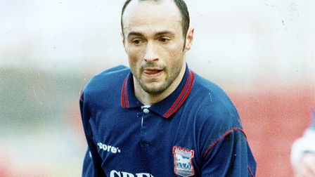 Simon Milton in action for Town in the mid-1990s
