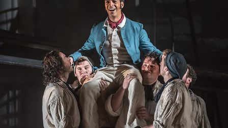 Billy Budd by Benjamin Britten which is receiving its first performnace at The Aldeburgh Festiva;. P