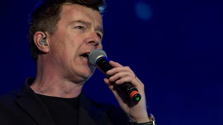 Rick Astley performing at Thetford Forest. Photo: Lee Blanchflower.