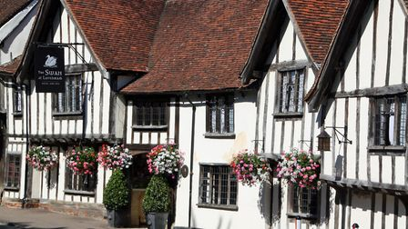 The timbered Swan Hotel in Lavenham. Picture: DAVID LAMMING