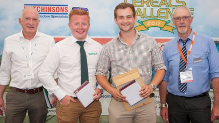 Writtle University College accepting the Cereals Challenge 2017 prize: Keith Norman (Velcourt), Harr