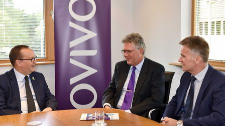 (L to R) Jim Crawford, Sizewell C project development director with Mark Hodder, Ovivo general manag