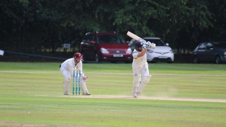 Jaik Mickleburgh batting during his innings of 113 not out for Suffolk versus Hertfordshire at Copdo