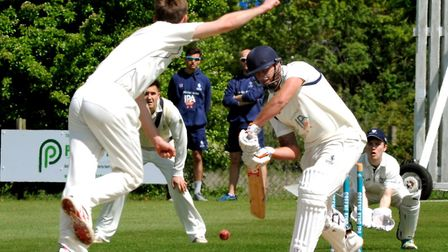 Frinton batsman Michael Comber, who top-scored with 67 in the Essex side's frustrating draw at Norwi