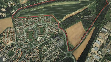 Land in Rendlesham could be developed for up to 300 homes. Picture: TOM POTTER