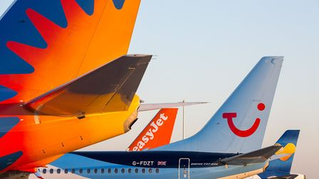Aircraft tailfins at Stansted Airport. Picture: Stansted Airport