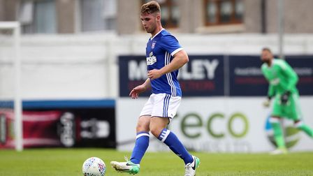 George Fowler in action for Ipswich Town against Drogheda United. Photo: �INPHO/Ryan Byrne