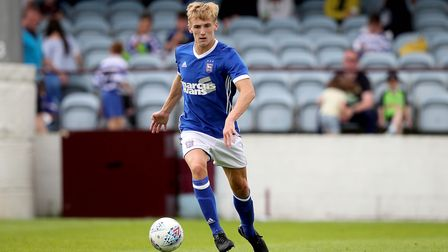 Flynn Downes in action for Ipswich Town against Drogheda. Photo: �INPHO/Ryan Byrne