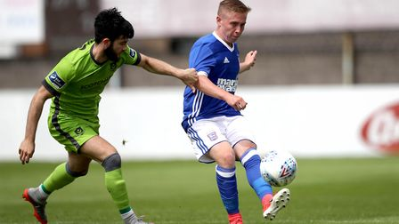 Ipswich Town's Conor McKendry in action against Drogheda. Photo: �INPHO/Ryan Byrne
