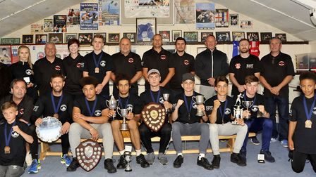 The Harwich Boxing Club award winners. Picture: HBC