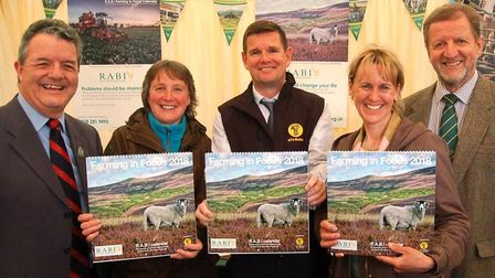 From left, Chris Riddle (RABI vice president), Ruth Downing (photographer), Chris Roberts (NFU Mutua