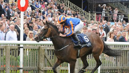 Roly Poly ridden by Ryan Moore wins The Tattersalls Falmouth Stakes during Gentleman's Day of The Mo