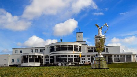 A general view of the Claret Jug during the media day at Royal Birkdale, Liverpool.
