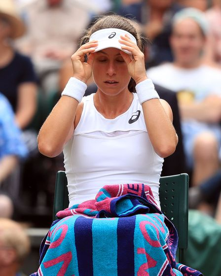 Johanna Konta during her match against Venus Williams on Thursday. Sadly, Konta lost to the American