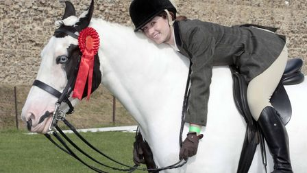 Rebecca Cheesman with George. Picture: NIGE BROWN