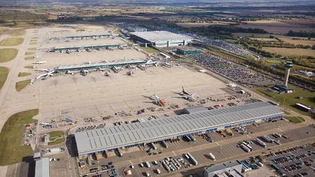 The passenger terminal and cargo facilities at Stansted Airport