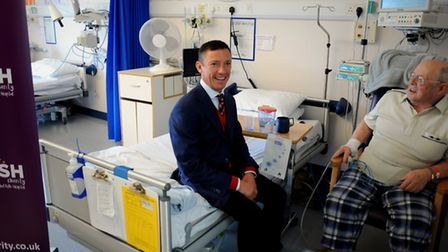Frankie Dettori launching the West Suffolk Hospital My WiSH Charity 'Every Heart Matters' appeal wit