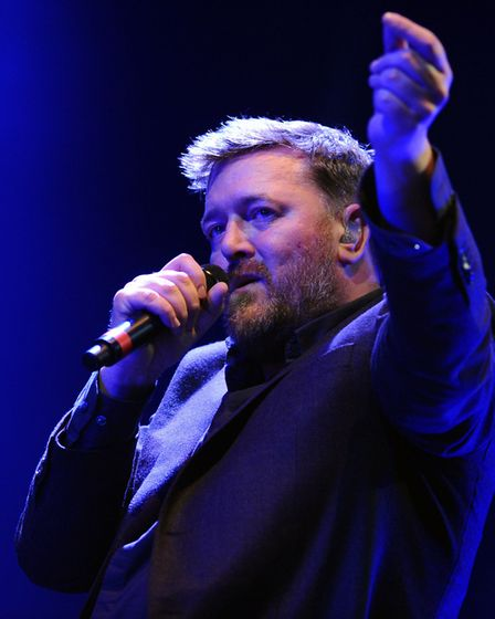 Elbow lead singer Guy Garvey, pictured during a performance at the Latitude Festival, interviewed To