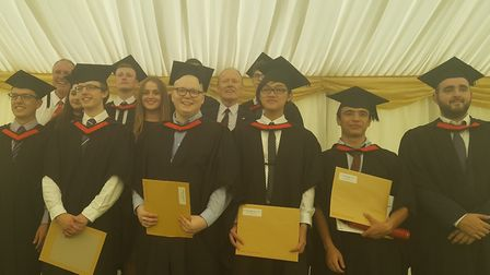 The University of Essex Computer Science Graduation Ceremony attended by members of staff from two10