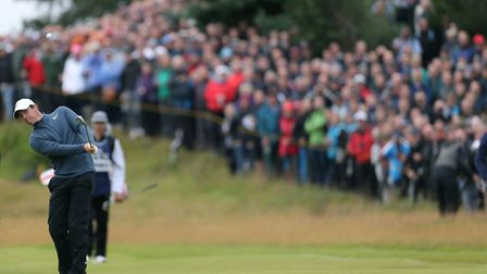 Northern Ireland's Rory McIlroy plays from the 1st fairway during day two of The Open Championship.